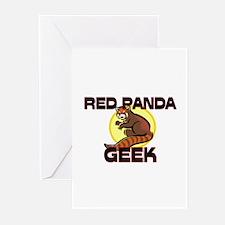 Red Panda Geek Greeting Cards (Pk of 10)