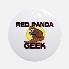 Red Panda Geek Ornament (Round)