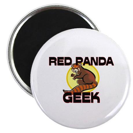 "Red Panda Geek 2.25"" Magnet (10 pack)"