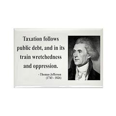 Thomas Jefferson 26 Rectangle Magnet