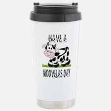 Cute Cow Moovalas day Stainless Steel Travel Mug