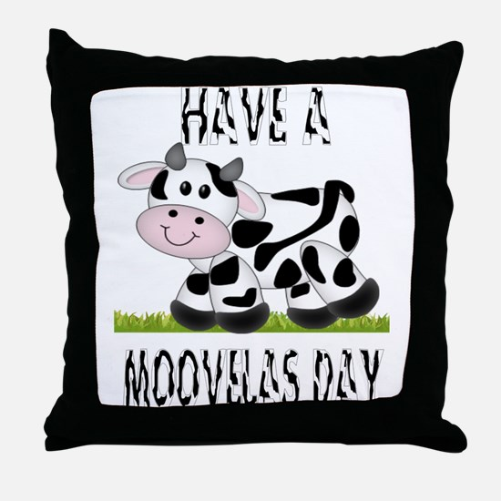 Cute Cow Moovalas day Throw Pillow