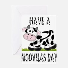 Cute Cow Moovalas day Greeting Card