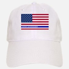 I support Law Enforcement American Flag Baseball Baseball Cap
