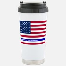 I support Law Enforceme Stainless Steel Travel Mug