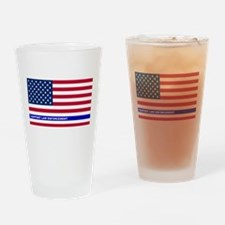 I support Law Enforcement American Drinking Glass