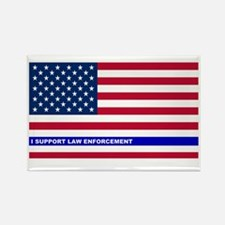 I support Law Enforceme Rectangle Magnet (10 pack)