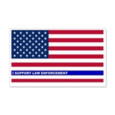 I support Law Enforcement America Wall Decal