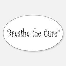 Breathe the Cure Oval Decal