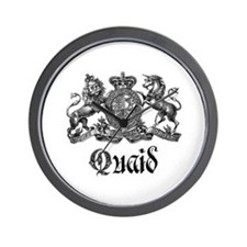 Quaid Vintage Family Name Crest Wall Clock