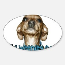 Chi-Weenies.com Oval Sticker (10 pk)