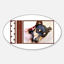 Chi-Weenies.com Oval Decal