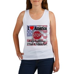 STOP Exploiting The Elderly Women's Tank Top
