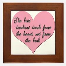 Teacher heart Framed Tile