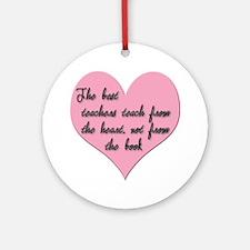 Teacher heart Ornament (Round)
