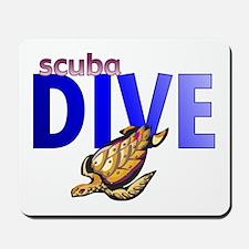 Sea Turtle/Scuba Dive Mousepad