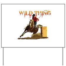Wild Barrel cowgirls Yard Sign