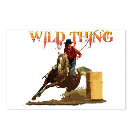 Wild Barrel cowgirls Postcards (Package of 8)