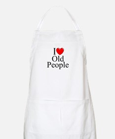 """I Love (Heart) Old People"" BBQ Apron"