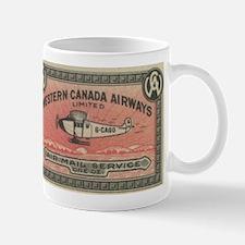 Western Canada Airways label Mug