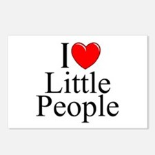 """I Love (Heart) Little People"" Postcards (Package"