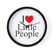 """""""I Love (Heart) Little People"""" Wall Clock"""