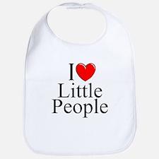 """""""I Love (Heart) Little People"""" Bib"""