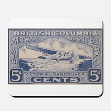 BC Airways label Mousepad