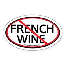 Boycott French Wine Oval Decal