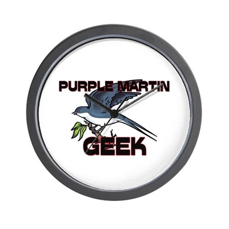 Purple Martin Geek Wall Clock