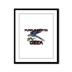 Purple Martin Geek Framed Panel Print