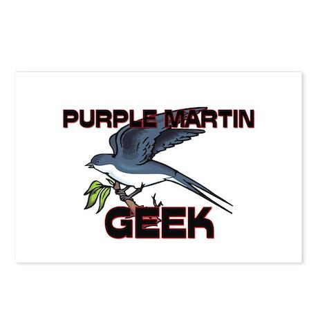 Purple Martin Geek Postcards (Package of 8)