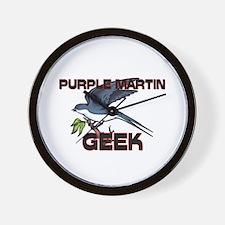 Purple Martin Geek Wall Clock