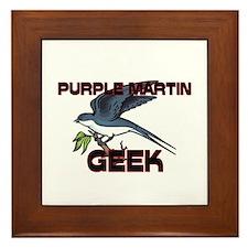 Purple Martin Geek Framed Tile