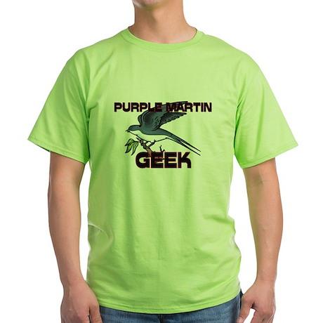 Purple Martin Geek Green T-Shirt
