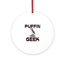 Puffin Geek Ornament (Round)