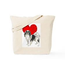 Chin Heart Tote Bag