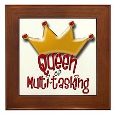 Queen of Multi-tasking Framed Tile