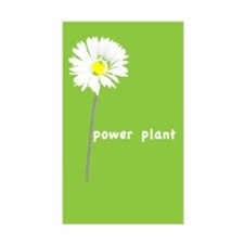 Power Plant Flower Rectangle Decal