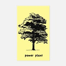 Power Plant Tree Rectangle Decal