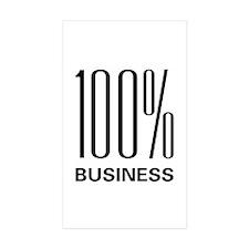 100% Business Rectangle Sticker 50 pk)