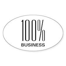 100% Business Oval Sticker (10 pk)