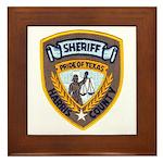 Harris County Sheriff Framed Tile