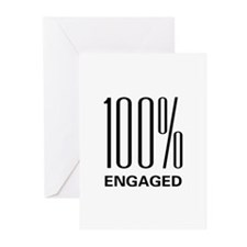 100% Engaged Greeting Cards (Pk of 20)