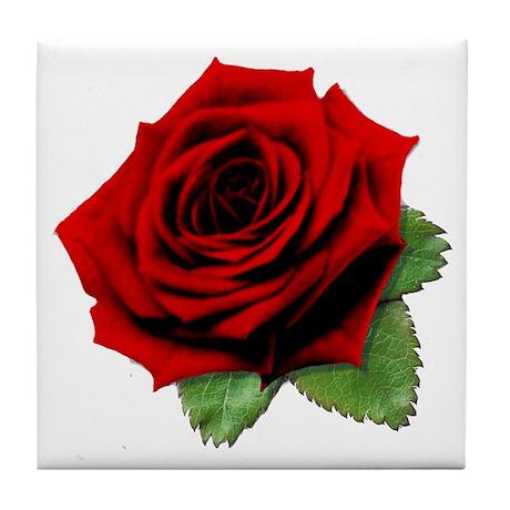 A Rose is a Rose Tile Coaster