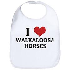 I Love Walkaloosa Horses Bib