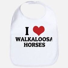 I Love Walkaloosa Horses Bib