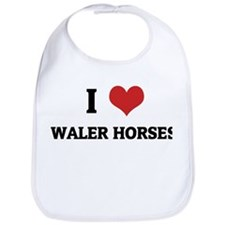 I Love Waler Horses Bib