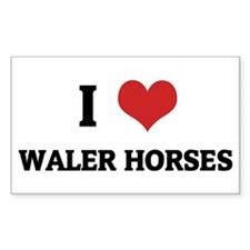 I Love Waler Horses Rectangle Decal