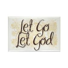 Let Go Let God Rectangle Magnet